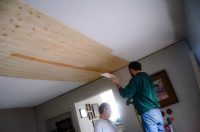 Covering Popcorn Ceilings With Planks - The Elliott Homestead