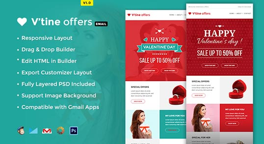 Valentine E-Marketing Template Buy Premium Valentine E-Marketing
