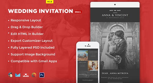 Wedding Invitation Email Template Buy Premium Wedding Invitation