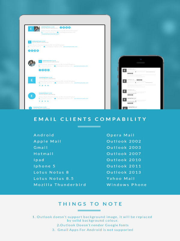 Responsive Signature E-mail Template Buy Premium Responsive - outlook signature template