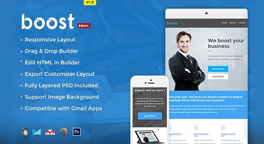 Boost Corporate B2B Newsletter Template Buy Premium Boost Corporate - corporate newsletter template