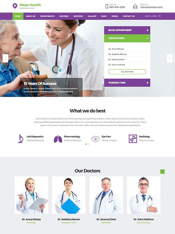 MegaHealth Medical WordPress Theme Buy Premium MegaHealth Medical