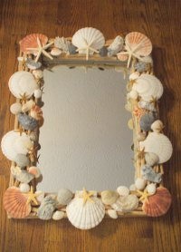 Craft  Seashell embellished mirror | The Enchanted Manor