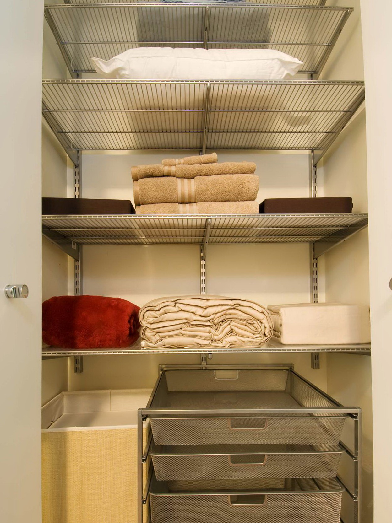 Linen Closet Organizer Systems Deep Hall Closet Organization Home Design Ideas