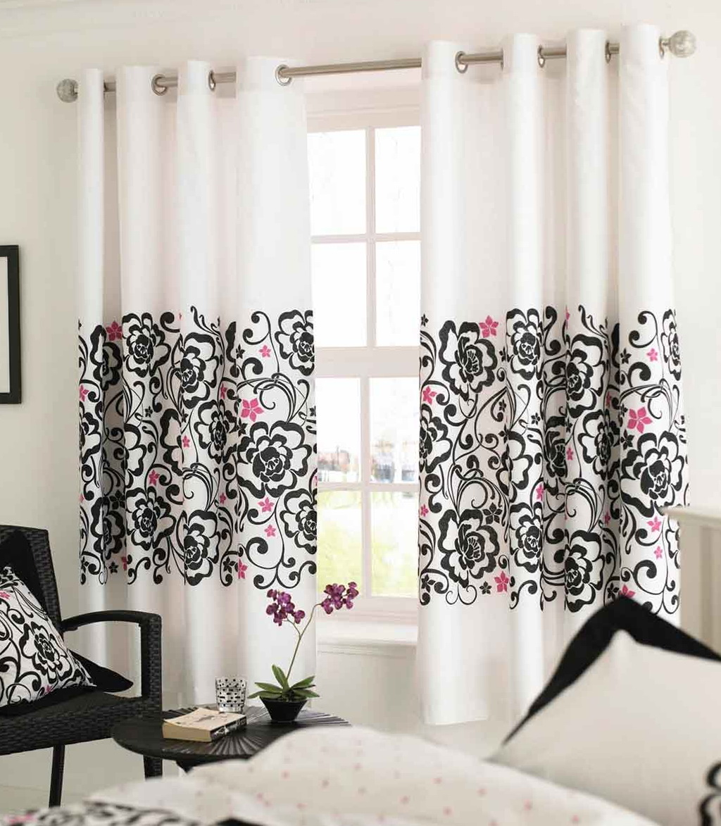 Black And White Bedroom Curtains Ideas Black And White Curtains For Bedroom Home Design Ideas