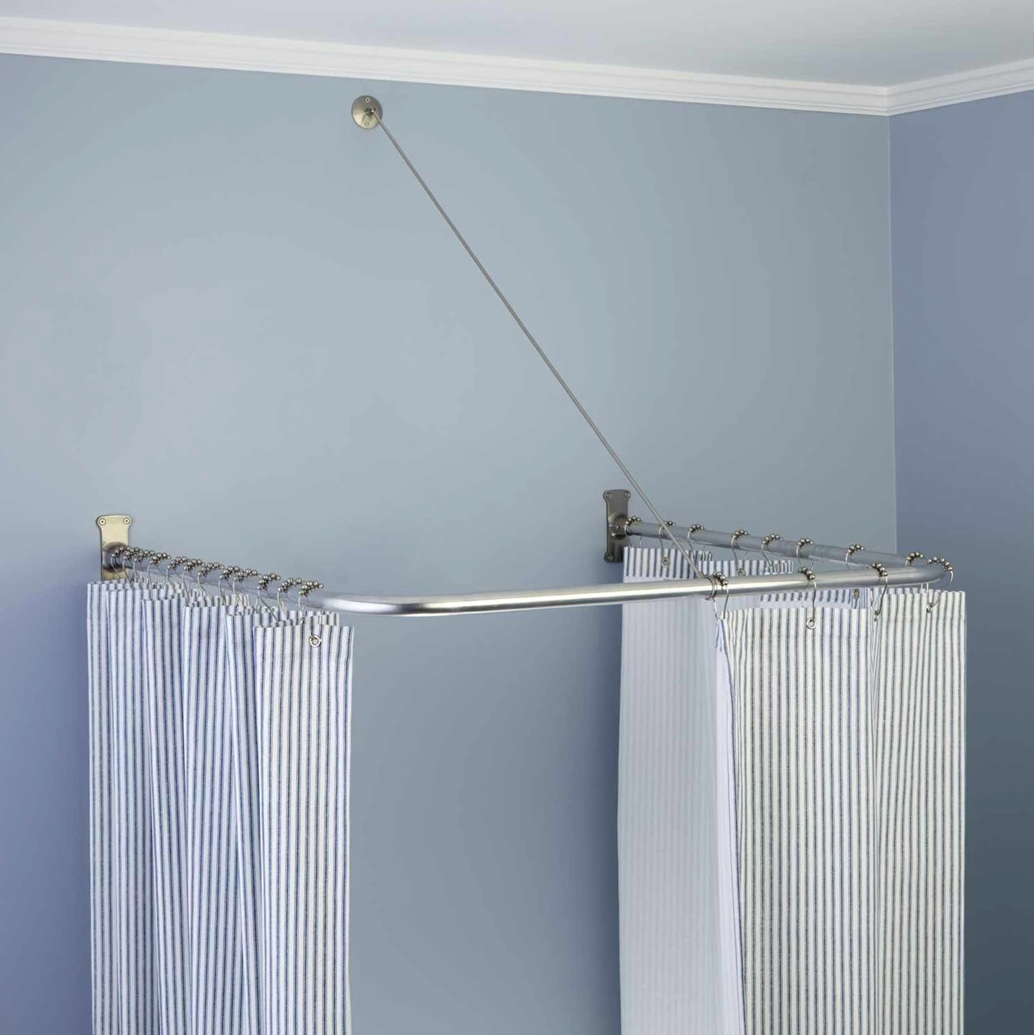 Brushed Nickel Shower Curtain Rod Curved Shower Curtain Rod Brushed Nickel Home Design Ideas