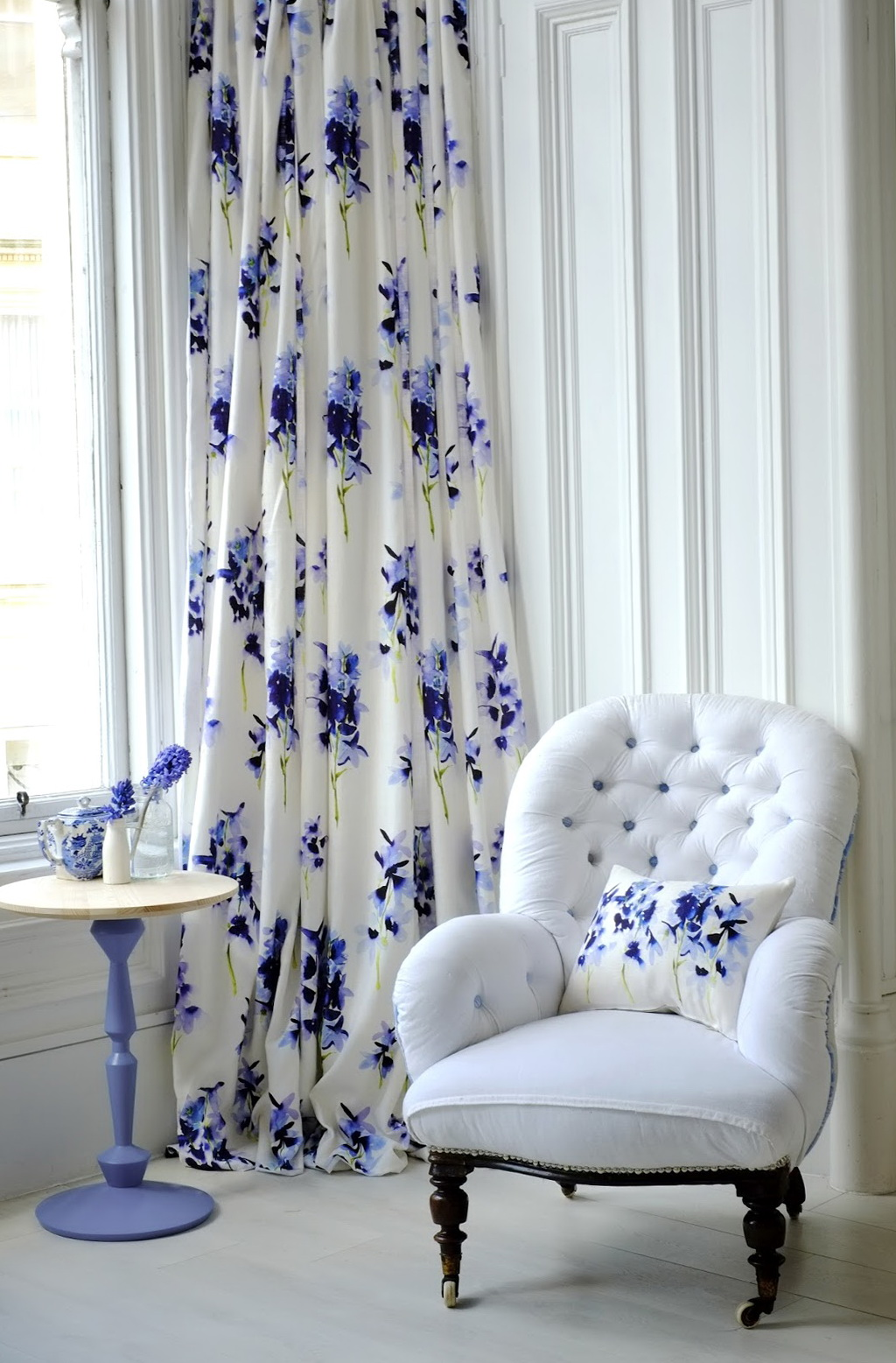Ikea Shower Curtains White And Blue Floral Curtains | Home Design Ideas
