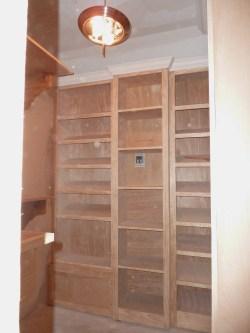 Master bedroom closet before paint