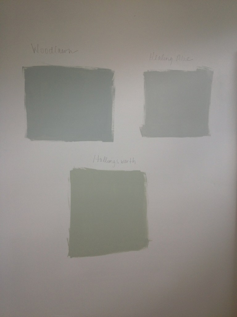 Grout bath paint sample