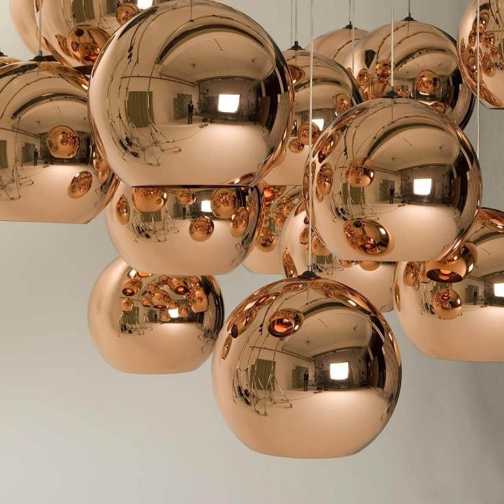 Tom Dixon copper lights