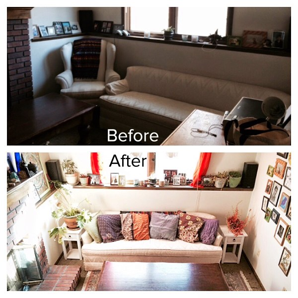 Hippie Den Makeover Before and After