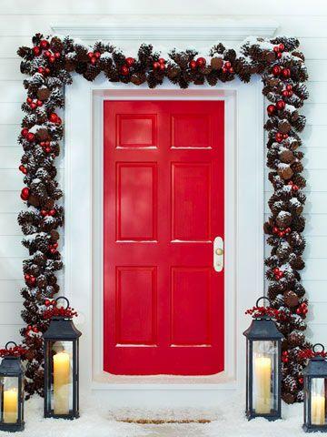 xmas red door