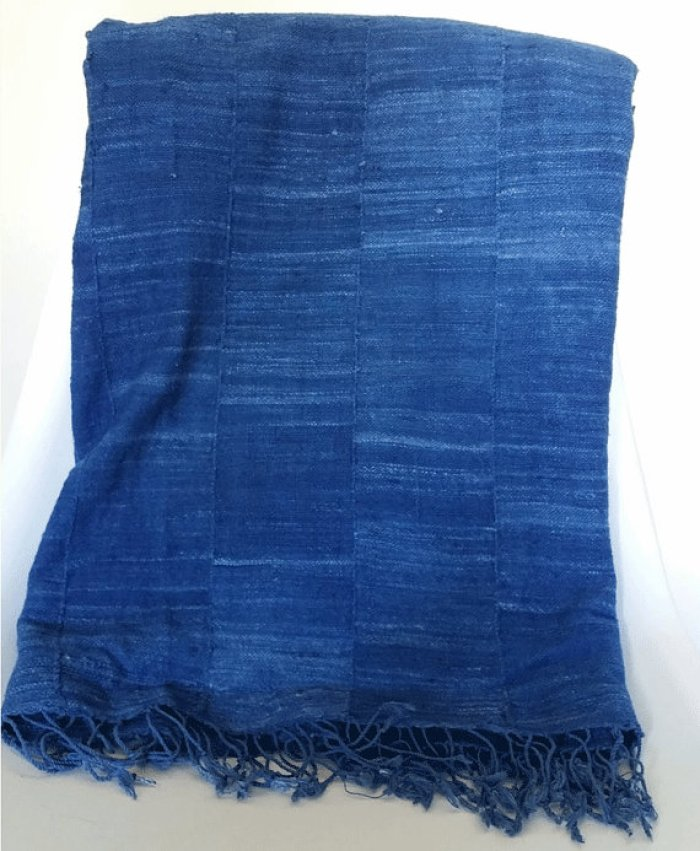 TEOT solid indigo throw
