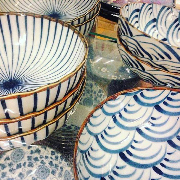 Sarah snagged a snap of some blue and white at Pearl River antiques fair