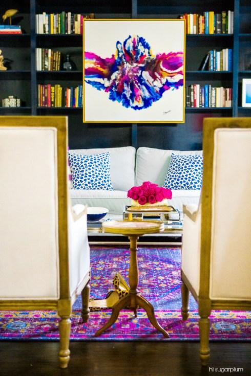 rorschach art by hi sugarplum one room challenge