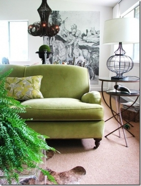 green liess sofa