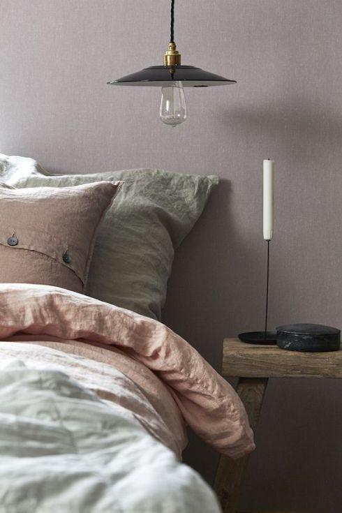 Lavender linen wallpaper