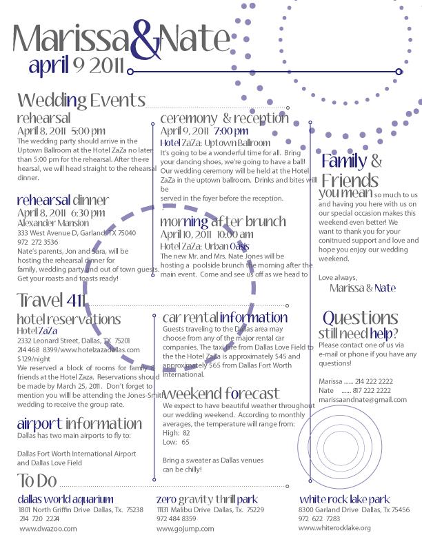 itineraries « The Event Agenda