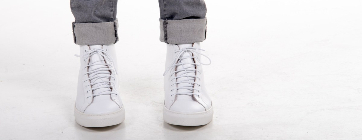 The Frank Wright Logan Leather High Top Sneaker