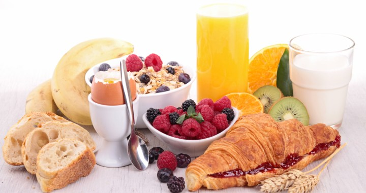 Breakfast can be made up of any foods that are part of a healthy diet