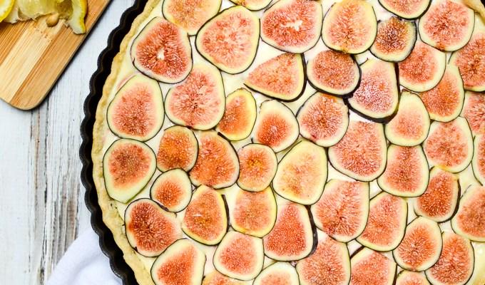 Fresh Fig & Lemon Cream Tart