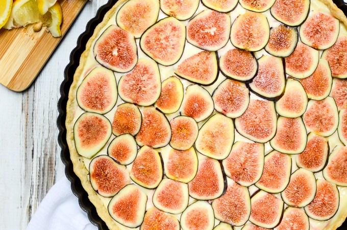 Fresh Fig and Lemon Cream Tart | www.theeverykitchen.com