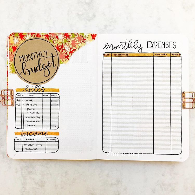 10 Bullet Journal Money Trackers To Manage Your Finances - TheFab20s