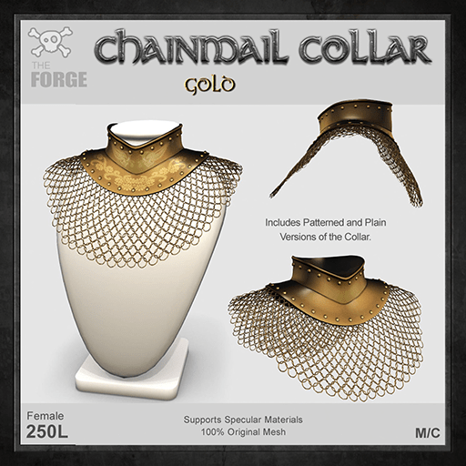 Forge-Chainmail-Collar-Gold