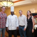 Mike Peterson, Mt. Vernon Grassfed; Chef Willie Miller, Brandon Ballance of Promise Land Pastures and Suzi Lilly, Farm to Family