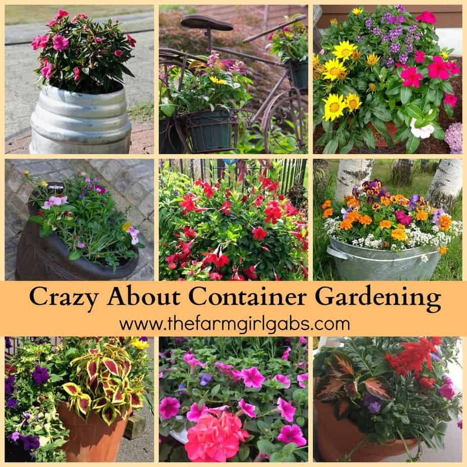Unique Outdoor Flower Pots Crazy About Container Gardening Thefarmgirlgabs