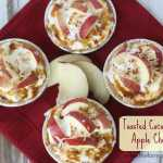 Toasted Coconut Caramel Apple Cheesecakes