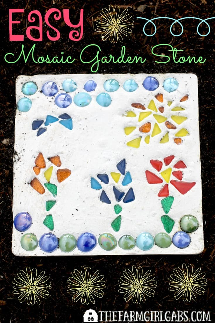 Create Your Own Mosaic Garden Stone The Farm Girl Gabs