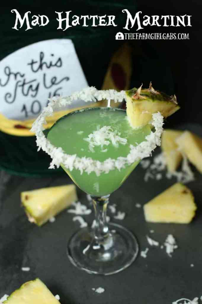 The Mad Hatter Martini - The Farm Girl Gabs