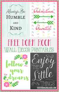 Dorm Room Wall Decor Printables - The Farm Girl Gabs