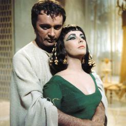 Liz Taylor and Richard Burton on the Set of 'Cleopatra'