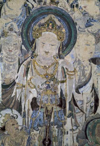 Avalokitesva(Guan-yin) painting, south wall,Mogao-Cave, EarlyTang