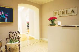Furla's floral inspired store