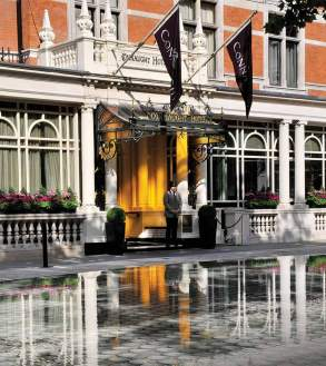The entrance to The Connaught in Mayfair