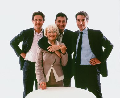 from left to right: CEO Pierre-Louis Delapalme; Ms. Josette Allouche; Dr Philippe Allouche is the Research and Creative Director; President is Rupert Schmid