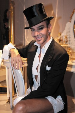 Galliano after his 2008 SS show in Paris