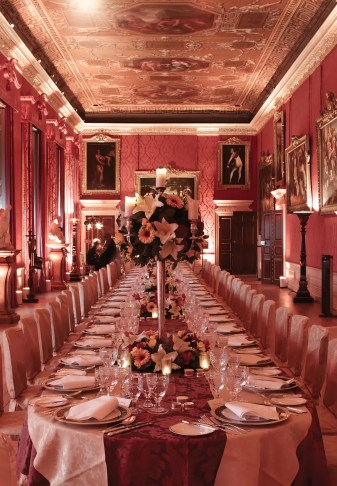 The dining room in the Queen's Chambers at Kensington Palace