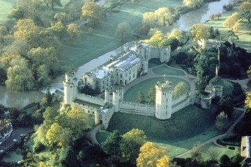 An aerial view of Warwick Castle, which is now offering a 'royal welcome' to overnight guests