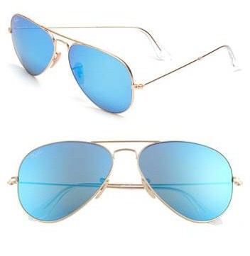 Blue Mirrored Ray-Ban Aviators - The Fashion Freckle