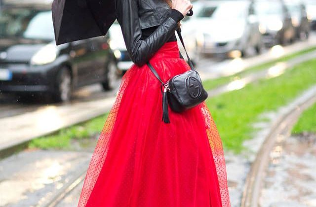 Street Style:  Lady in Red