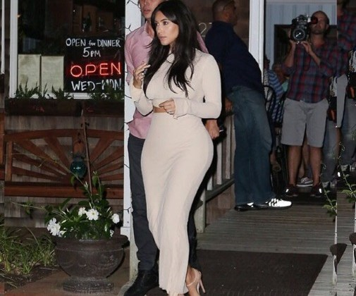 Kim Kardashian in Laquan Smith