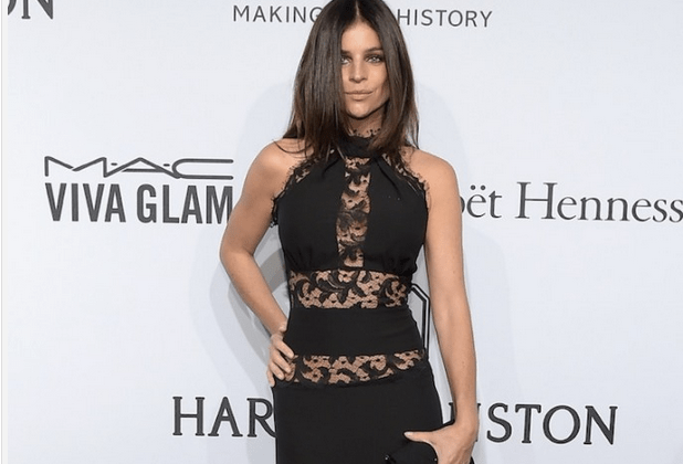 JULIA ROITFELD RESTOIN wears a Philipp Plein Spring/Summer 2015 dress to the amfaR NYC Gala