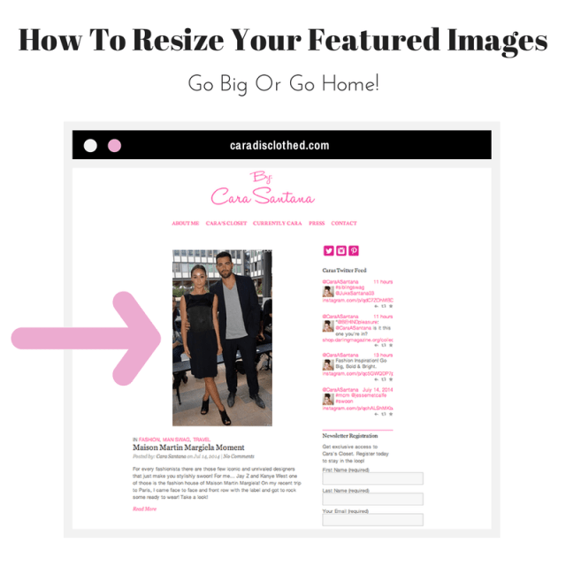 How to enlarge your featured images