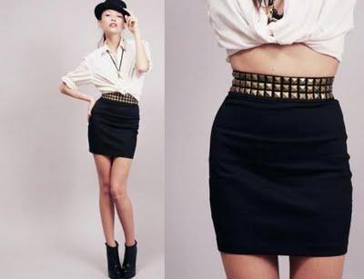 stylestalker studded skirt