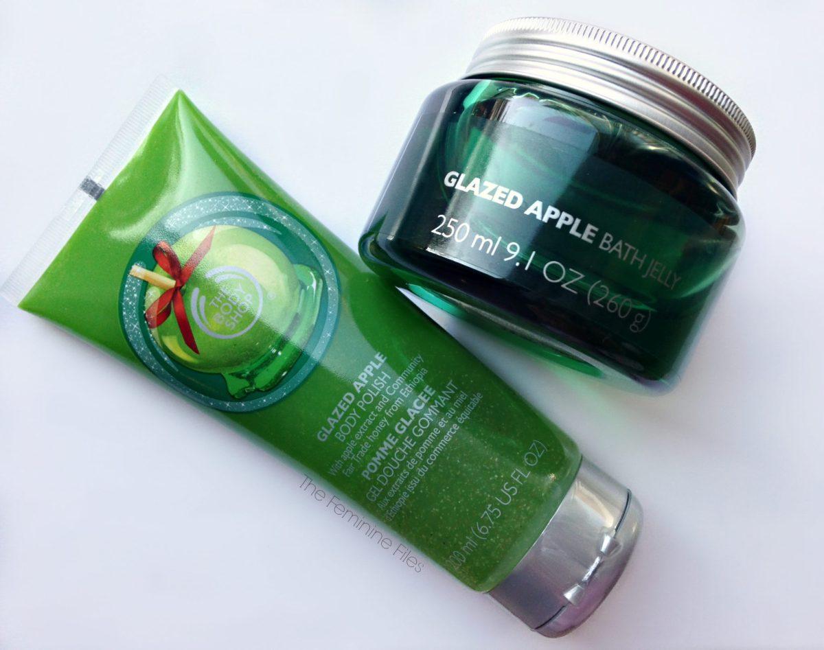 The Body Shop's Glazed Apple Body Polish & Bath Jelly
