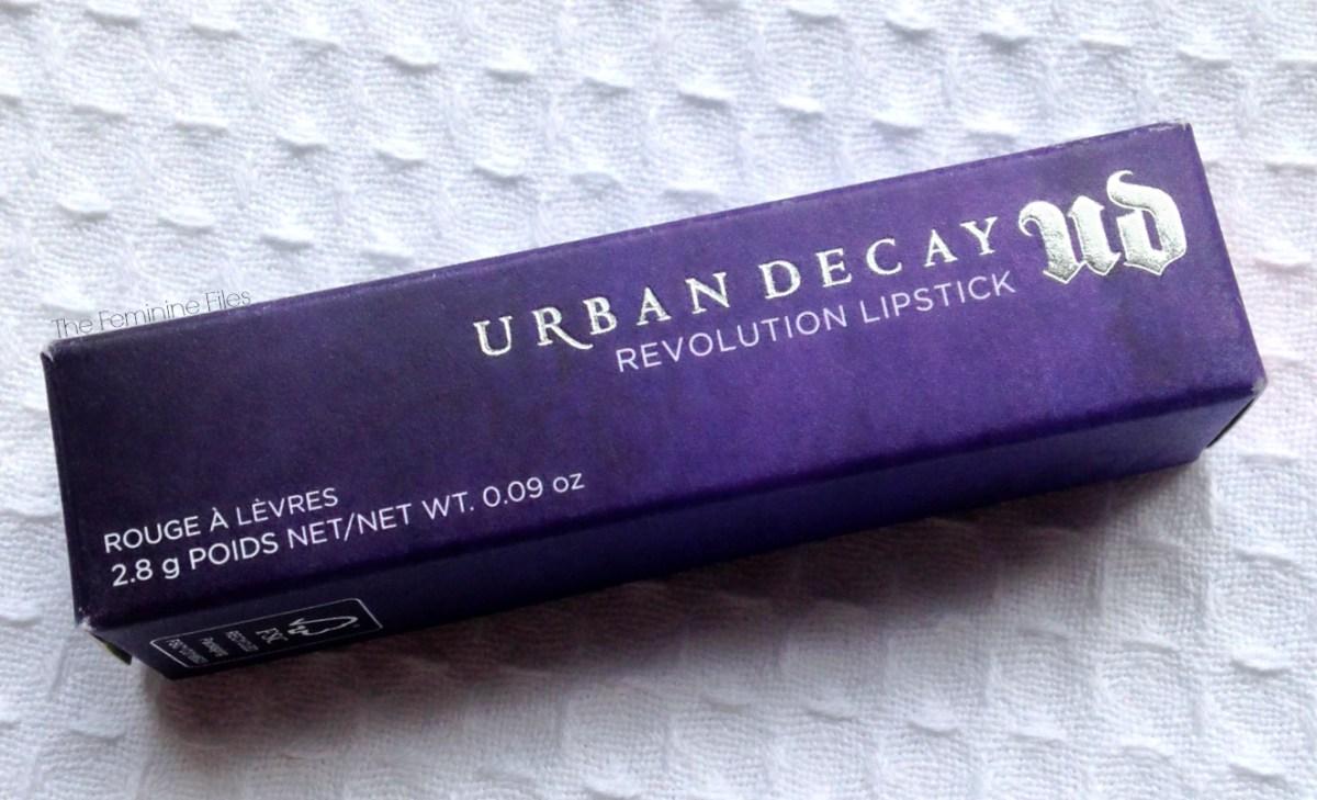 Let's Go Streak-ing with Urban Decay Revolution Lipstick